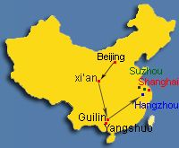 Beijing Xi' an Guilin and Eastern China